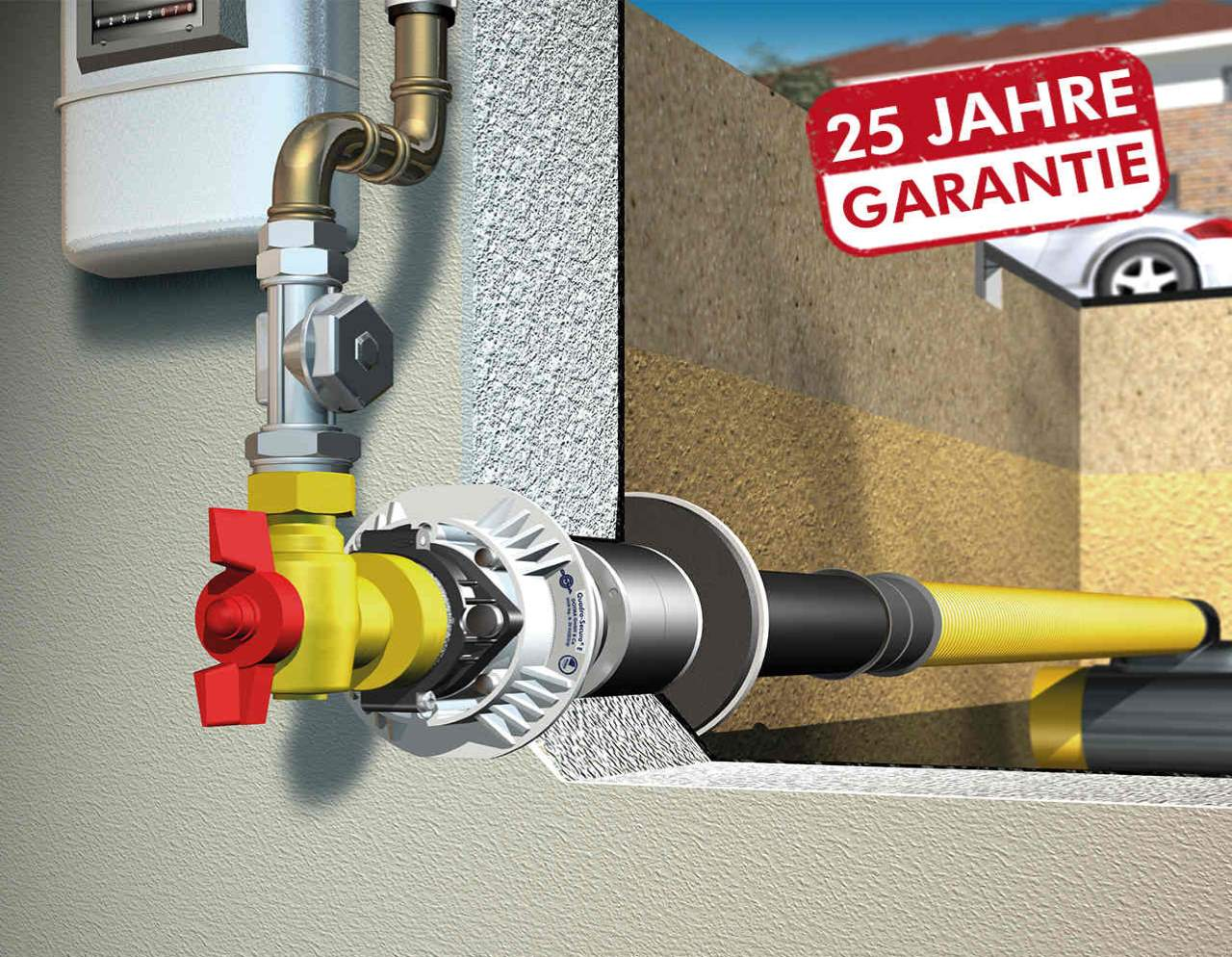 DOYMA 1-Spartenhauseinführung (Gas) für unterkellerte Gebäude