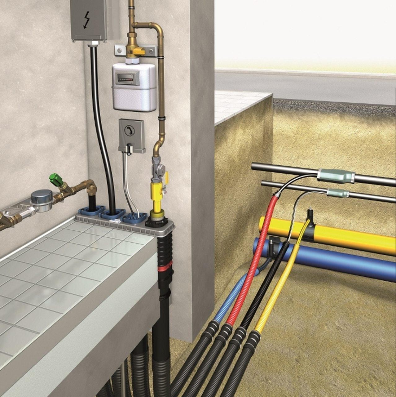 DOYMA 4-Spartenhauseinführung (BHP) Eco für nichtunterkellerte Gebäude