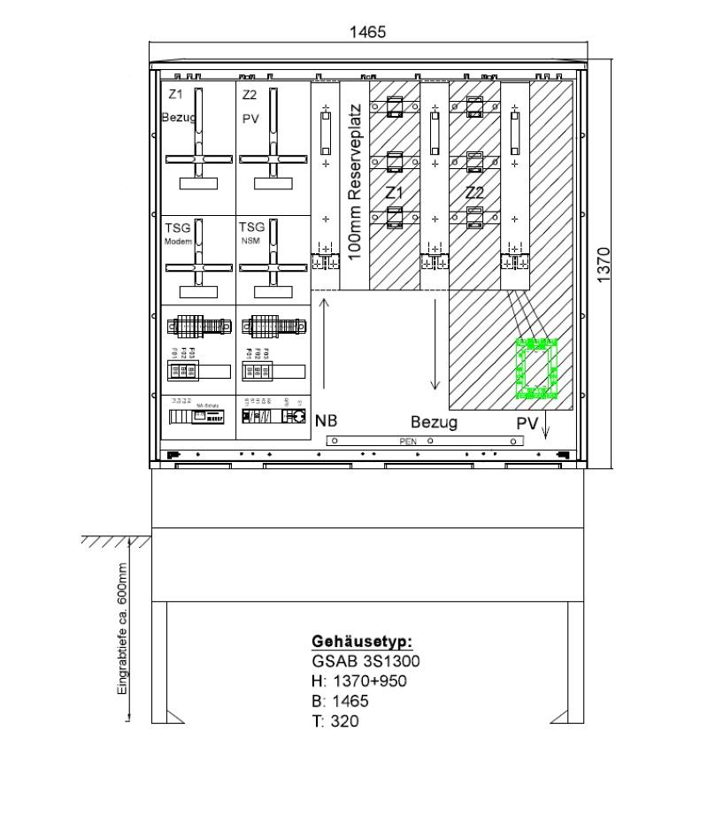 GSAB ZAS Erzeugungsanlagen bis 135kVA (Überschusseinspeisung)